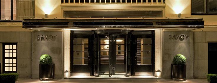 Savoy Hotel entrance